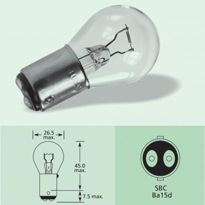 Picture of Indicator Bulb BA15D 6V 18W SBC Base Type