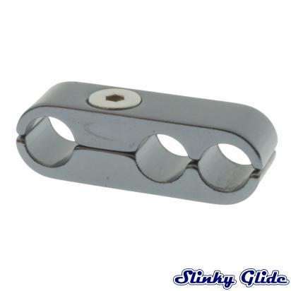 Picture of Motorcycle Cable and Hose Tidy / Clamp for 3 Cables - Gunmetal - Slinky Glide
