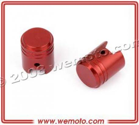 Picture of Valve Caps - Pair Piston Red