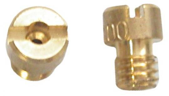 Picture of Brass Jet to Fit Keihin Small Round 99101-1165 head with 4mmx0.75mm thread (size 85)