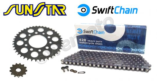 Picture of Swift Super Heavy Duty Chain and SunStar Sprocket Kit
