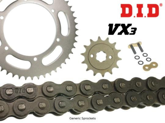 Picture of DID VX3 Heavy Duty X-Ring Chain and Pattern Sprocket Kit