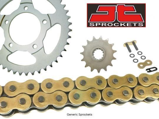 Picture of JT Heavy Duty O-ring Gold and Black Chain and JT Sprocket Kit