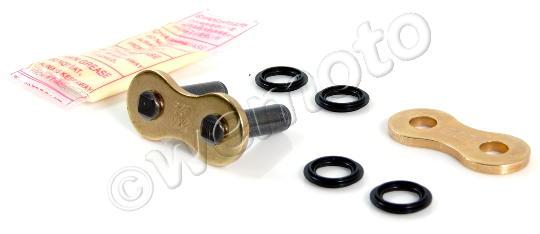 Picture of Kawasaki ZXR 250 R (ZX 250 D1) 91 Chain DID VX X-Ring Premium Gold & Black Rivet Link