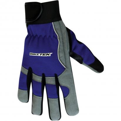 BikeTek Mechanics Gloves Full-Finger size Small