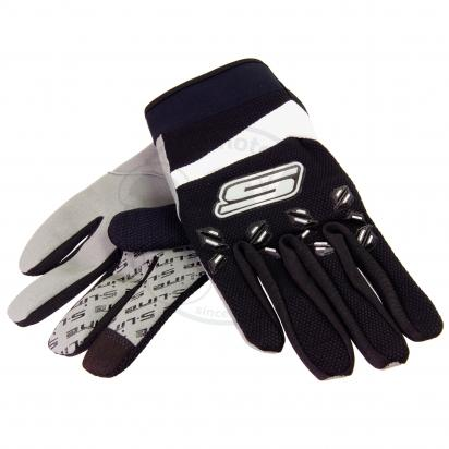 Picture of S-Line Motocross Gloves - Touch Screen Friendly - Medium - Black And White