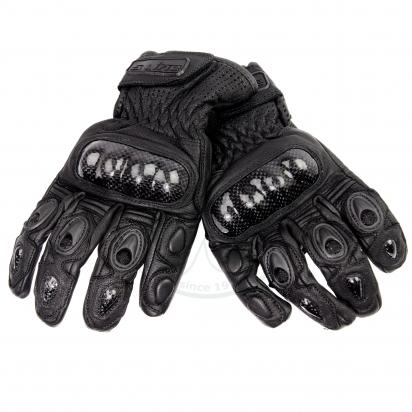 Picture of S-Line Full Leather Gloves With Carbon Fibre Knuckle Protection - Large - Black