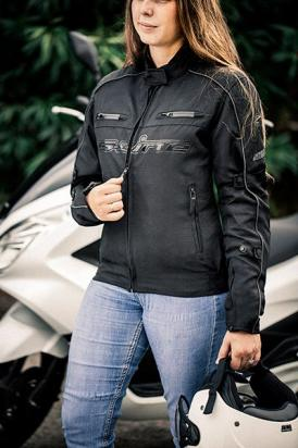 Picture of S-Line All Season Textile Jacket Womens With Elbow, Shoulder And Upper Back Protectors - Small - Black
