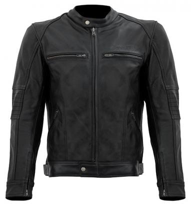Picture of S-Line Full Leather Casual Style Jacket With Elbow, Shoulder And Upper Back Protectors - Large - Black