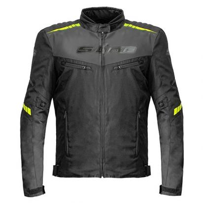 Picture of S-Line All Season Textile Jacket With Elbow and Shoulder Protectors - Large - Black/Yellow Fluo