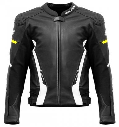 Picture of S-Line Race Style Jacket With Elbow, Shoulder and Upper Back Protectors - Medium - Black, White, Fluo Yellow