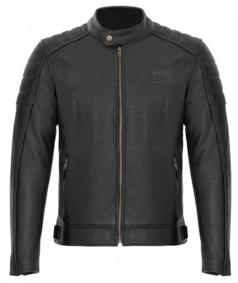 Picture of Gasoline GT Full Leather Jacket With Elbow, Shoulder And Upper Back Protectors - Large - Black