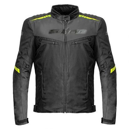 Picture of S-Line All Season Textile Jacket With Elbow and Shoulder Protectors - X Large - Black/Yellow Fluo