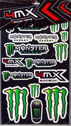 Picture of Sticker Kit - Monster Energy ( 1 SHEET )