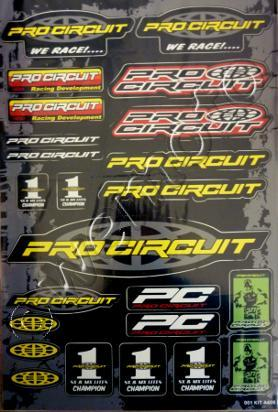 Picture of Sticker Kit - PRO CIRCUIT - ( 1 SHEET )