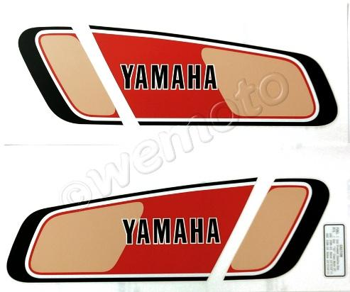 Decals Tank Yamaha XT500 Black Red Beige 1977