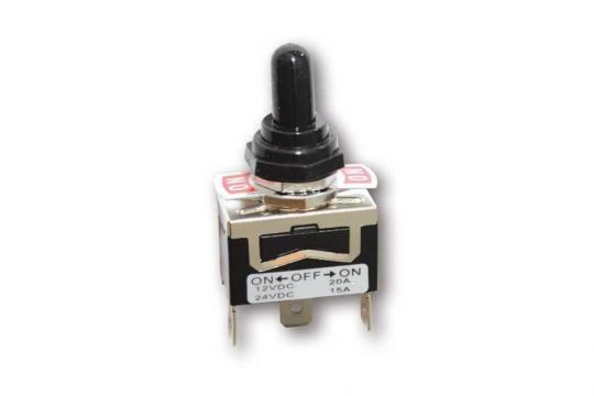 Picture of ON-OFF-ON Switch with Rubber Cap (Waterproof) 10A