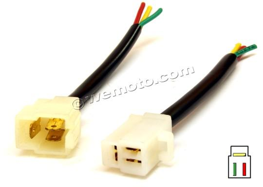 3 Pin Connectors Male and Female Set Wide