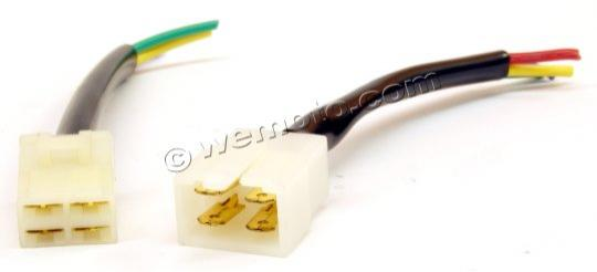 Picture of 4 Pin Connector Male and Female Set Wide