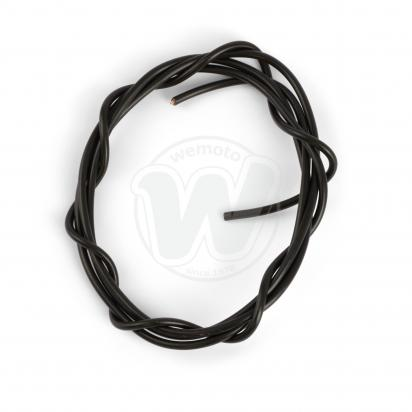 Picture of Electrical Cable Single - 6 Amp - Black 1 Meter