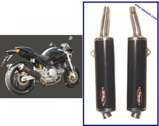 Picture of Marving Low Level Carbon Fibre Oval Silencers