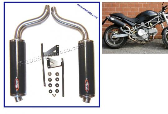 Picture of Marving High Level Carbon Fibre Oval Silencers