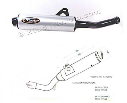 Picture of Marving Suzuki GS 500 E 88-03 Silencer - Original Style - Black & Aluminuim