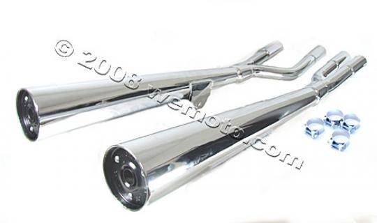 Picture of Marving Suzuki GS 850 G Silencers - MARVI Line Conical - Chrome