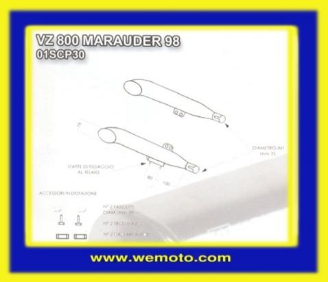 Picture of Marving Suzuki VZ 800 Marauder 99 Silencers - LEGEND Custom Line - Chrome