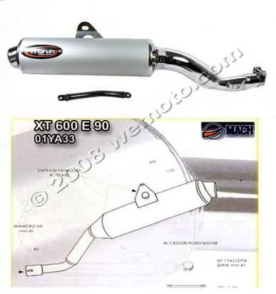 Picture of Marving Yamaha XT 600 E 90 Silencer - AMACAL Line - Chrome & Aluminium