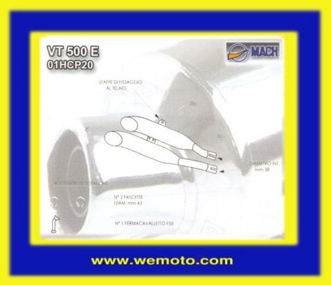 Picture of Marving Honda VT500 Custom Silencers - LEGEND Custom Line - Chrome