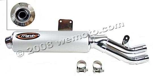 Picture of Marving Yamaha XTZ 750 Super Tenere Silencer - AMACAL Line - Chrome & Aluminium