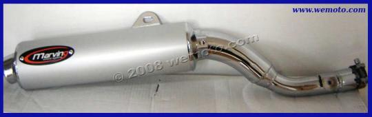 Picture of Marving Yamaha XT 600 Z Tenere 85-88 Silencer - AMACAL Line - Chrome & Aluminium