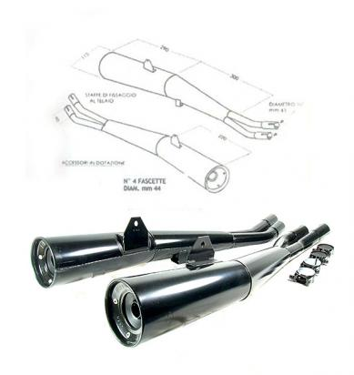 Picture of Marving Suzuki GSX 750/1100 Katana Silencers - MASTER Line Semiconical - Black
