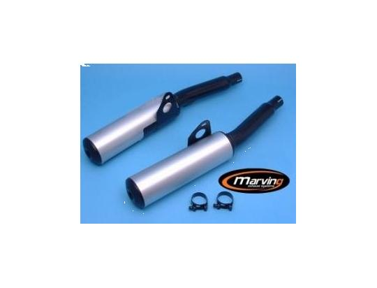 Picture of Marving Kawasaki GPZ 1000 RX Silencers - Original Style - Black & Aluminium
