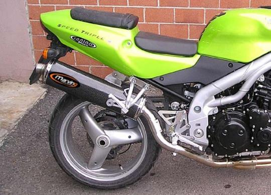 Picture Of Marving Triumph Speed Triple 955 Silencer