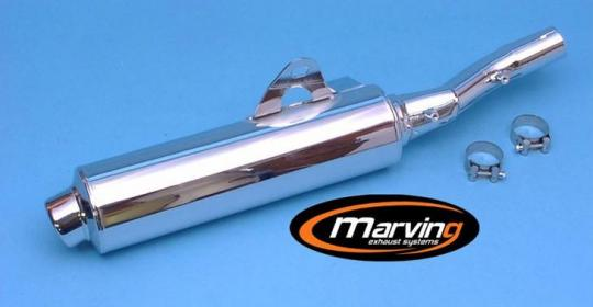 Picture of Marving Honda NTV 650 Revere Silencer - Original Style - Chrome
