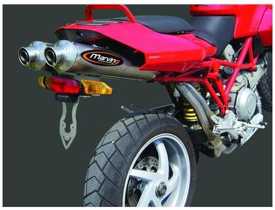 Picture of Marving Ducati Multistrada Silencers - SUPERLINE Oval - Aluminium