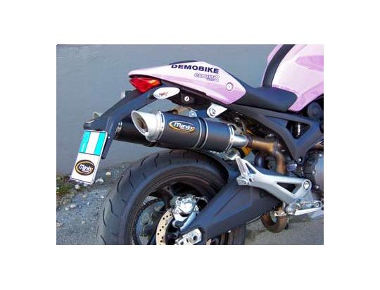 Picture of Marving Ducati Monster 696 Silencers - SLASH LINE Round - Carbon