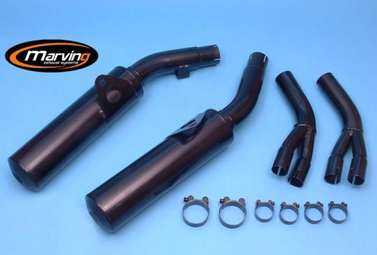 Picture of Marving Honda VFR 750 F 86/87 Silencers - Original Style - Black