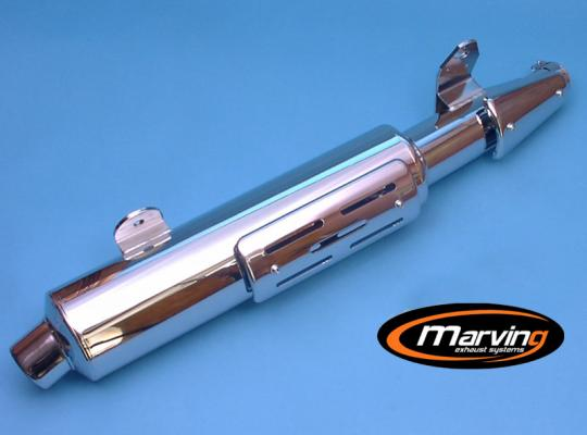 Picture of Marving Honda XRV 750 Africa Twin 96-03 Silencer - AMACAL Line - Chrome & Aluminium