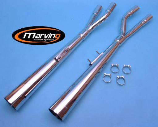 Picture of Marving Suzuki GS 1100 G Silencers - MARVI Line Conical - Chrome
