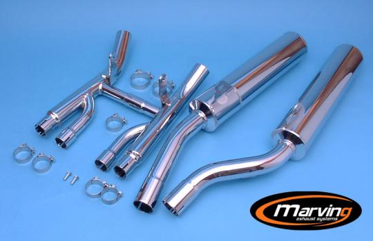 Picture of Marving Suzuki GSX 1100 G 91-94 Silencers - Original Style - Chrome