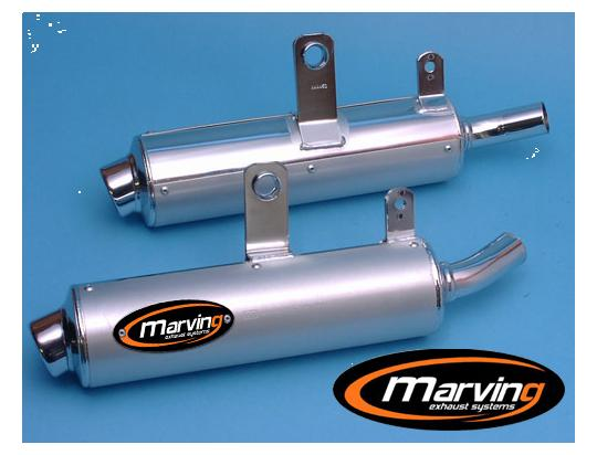 Picture of Marving Suzuki DR 800 Big 91-94 Silencers - AMACAL Line - Chrome & Aluminium