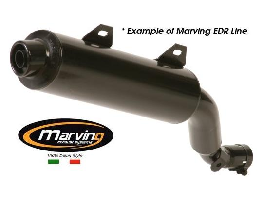 Picture of Marving Honda XL 125/200 R Silencer - EDR Line - Black