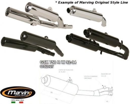Picture Of Suzuki GSXR 750 WN 92 Marving Original Style Silencer