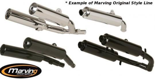 Picture of Marving Yamaha TDM 900 Silencers - Original Style - Chrome & Aluminium