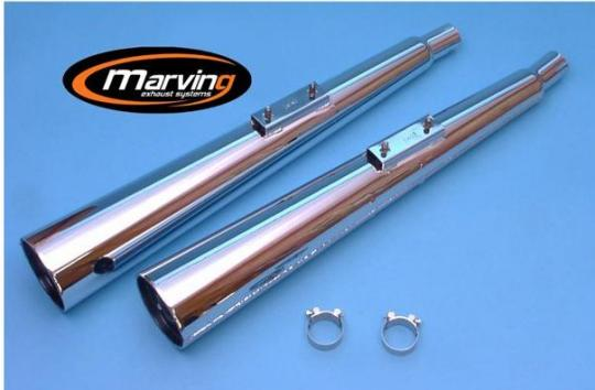 Picture of Marving Kawasaki Z 650 Silencers - MARVI Line Conical - Chrome