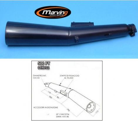 Picture of Marving Honda CBX 400/550 F Silencer - MASTER Line Semiconical - Black