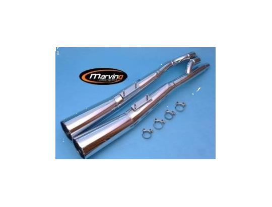 Picture of Marving Suzuki GSX 500 E Silencers - MASTER Line Semiconical - Chrome